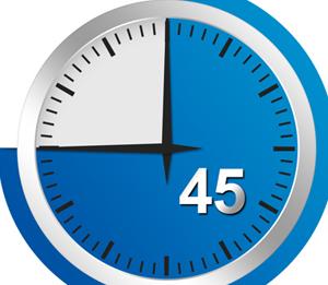 45-blauw
