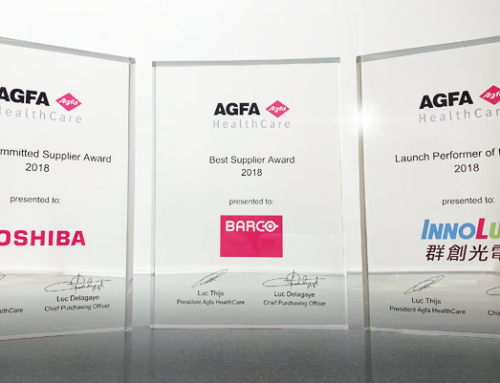 At RSNA 2018, Agfa HealthCare highlights the role and performance of suppliers Barco, Innolux and Toshiba Electronics Europe