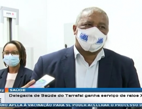 Cabo Verde T.V. news reports about Agfa's DR 400 system in Santiago hospital