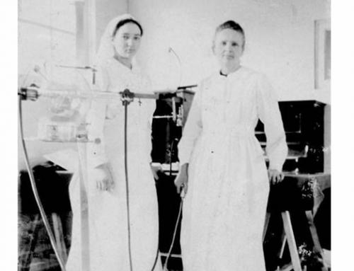 Marie Curie & Irène Joliot-Curie in Hoogstade, Belgium